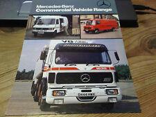 Mercedes-Benz Commercial Vehicle Range Brochure 1986 Trucks & Vans