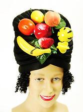 Fruit Bowl Black Hat & Hair Copacabana Carribean Fancy Dress