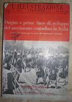 ORIGINI E PRIME LINEE DI SVILUPPO DEL MOVIMENTO CONTADINO IN ITALIA 1955 (YS)