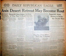 20 1942 WW II newspapers ALLIES DEFEAT ROMMEL Battle of EL ALAMEIN North Africa
