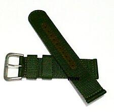 Genuine 22mm Seiko Strap Model 4A212JL Green Nylon Strap Band Watch Model SNZG09