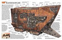 Framed Print - Star Wars Schematic Sandcrawler (Picture Poster Yoda Darth Vader)