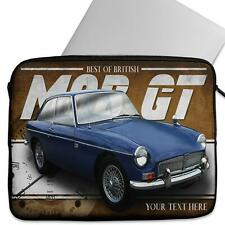 Personalised Laptop Cover MGB GT Neoprene Sleeve Classic Car CL30
