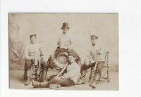 CAB Foto Soldaten mit Bier und Wein  - um 1900