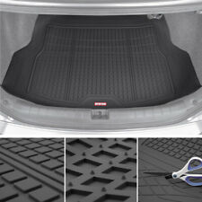 Car Rubber Cargo Floor Mat Motor Trend Black Odorless Heavy Duty Trimmable Liner