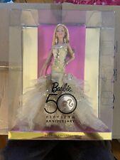 50th Fiftieth Anniversary Barbie Doll Gold Dress Nib