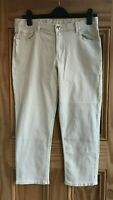 Marks & Spencer M&S NEW Beige Cropped Capri Jeans Trousers Size 6 8 10 12 14