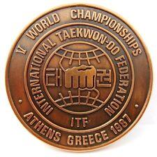 V WORLD TAEKWON-DO CHAMPIONSHIPS ATHENS,GREECE 1987 PARTICIPANT BRONZE MEDAL