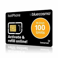 BlueCosmo IsatPhone 100 Unit Global Satellite Phone Prepaid Service SIM Card ...