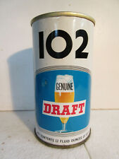 """Light blue 1-0-2 Draft by Maier Brewing Co, LosAngeles, Ca - """"Lift Ring"""" top"""
