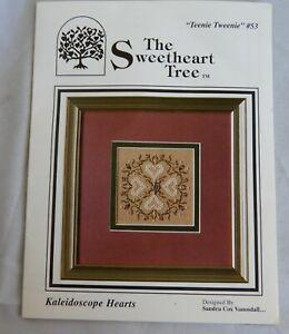 Sweetheart Tree Teenie Tweenie Cross Stitch Chart W/Charm - Kaleidoscope Hearts