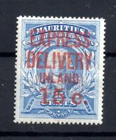 Mauritius 1904 15c on 15c Express Delivery E2 mint WS15981