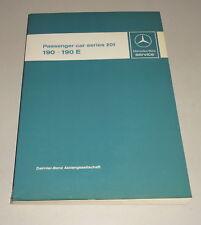 Taller Manual/Manual de Servicio Mercedes-Benz 190/190E W 201 desde 12/1982