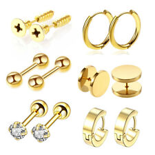 6pairs Stud Earrings Small Hoops Earrings CZ Cartilage Labret Lip piercing punk