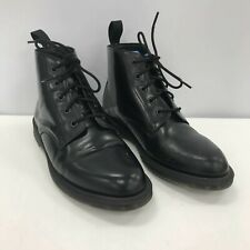 Dr. Martens Ladies Lace Ankle High Boots Size UK 8 Black Leather Look 291784