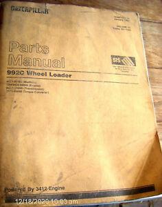Vol.II CAT Caterpillar 992C Wheel Loader Parts Manual Book 49Z1-Up      Lot #295