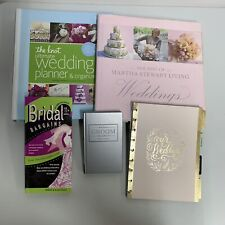 Lot of Wedding Planning Books - Martha Stewart, The Knot, Bridal Bargains, Groom