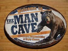 New listing Welcome To The Man Cave Black Bear Cabin Hunting Lodge Home Decor Sign - New