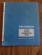 1 Tektronix manual S54 7B92A 7B15 S6 Sg502 Sg503 S2 7B15 7B87