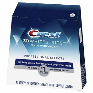 Crest 3D Professional Effect White Strips Advanced Teeth Whitening Treatment Kit