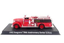 New 1:64 Diecast Fire Engine 1952 Seagrave USA Fire Truck Vehicle Model