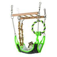 Suspension Bridge 17 × 22 × 15cm - Hamster Hammock Toy Gerbil Cage Pet Play