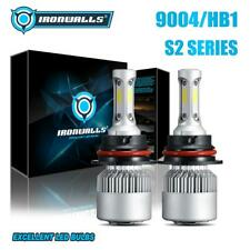 3-Side High Low Beam 9004 HB1 COB LED Headlight 2000W 300000LM Bulbs 6000K Turbo
