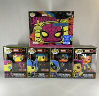 BLACK LIGHT Funko POP! SET SPIDERMAN IRONMAN CAP AMERICA THOR DR.STRANGE