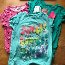 Girls Circo Peace Love and Dance Tees Size L 10/12 Basic Edition Pink Star Top L