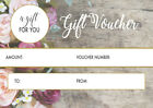 50 x A7 Gift Voucher Card coupon. Beauty Salon lash Nail manicure brow mobile