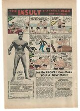 Charles Atlas The Insult That Made a Man Out of Mac Bodybuilding 1972 Comic Ad