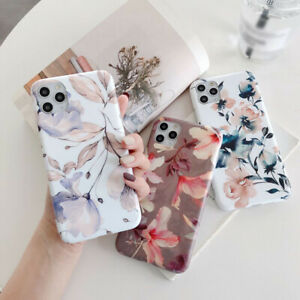 For iPhone 12 Pro Max 11 X XS XR 7 8 SE 2020 Hibiscus Flower Silicone Case Cover