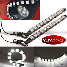 Fit Boxster 12 LED Driving DRL Daytime Running Light Flexible Strip White