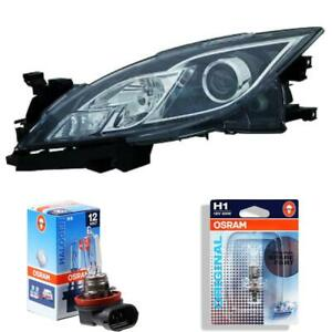 Headlight Left Mazda 6 Type Gh Year 08-10 H9 +H11 Incl. Osram Lamps