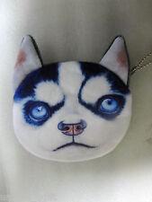 lovely Siberian Husky Dog Coin Bag Purse Gift Bag Ca un516