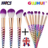 10PCS Kabuki Make up Brush Set Eyebrow Eyeliner Blush Cosmetic Concealer Brushes