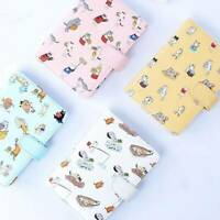 Student Cute Cartoon Cat Pattern Notebook Leather Cover Journal Diary Q