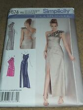 Simplicity 1874 Prom Wedding Special Occasion Dress Pattern Misses Size 14-22