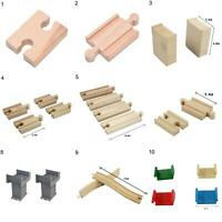 1Pc Wooden Train Track Connectors Adapter Expansion Railway Accessories Kids Toy