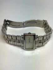 """Skagen Ladies Rectangular Stainless Steel Quartz Watch 280SSXMP for 6"""" Wrist"""