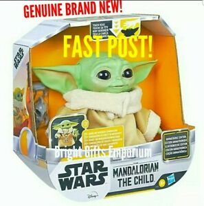 Star Wars Mandalorian Child Baby Yoda Animatronic Interactive 25+ Talk Plush NEW