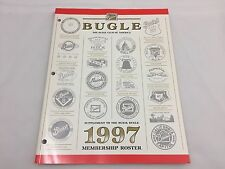 THE BUICK BUGLE-BUICK CLUB OF AMERICA BOOK-1997 MEMBERSHIP ROSTER SUPPLEMENT