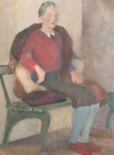Woman portrait vintage oil painting