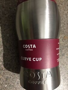 Original Costa Coffee Stainless Steel Travel Mug Insulated Thermal 450ml Curve