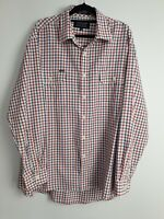 RB Sellers Men's Long sleeve Biloela Oxford Check Shirt Size XL
