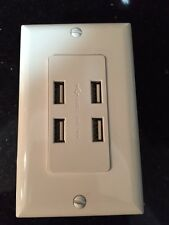 NEW 4 Amp High Speed Quad Device USB Charger Receptacle White Update your home!