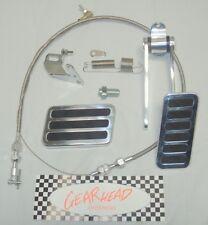 """Aluminum Brake Pad + Gas Pedal & 36"""" Throttle Cable Universal Kit"""