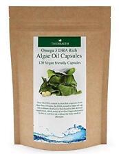 Algae Oil Capsules  - Omega 3 - 200mg DHA  - 120 Vegan Capsules - Fish Free