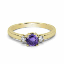 Tanzanite Yellow Gold Engagement Fine Rings