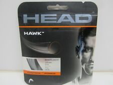 **NEW** LOT OF 2 SETS HEAD HAWK 17 (1.25) ANTHRACITE POLY TENNIS STRING